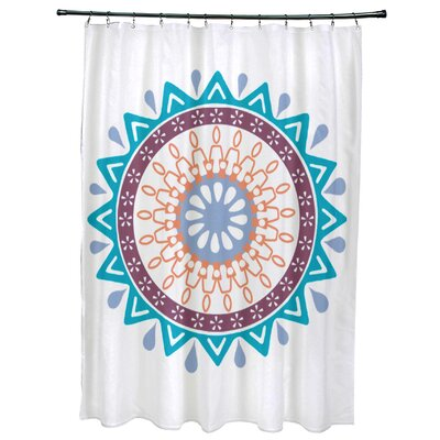 Oliver Mod Geometric Print Shower Curtain Color: Turquoise