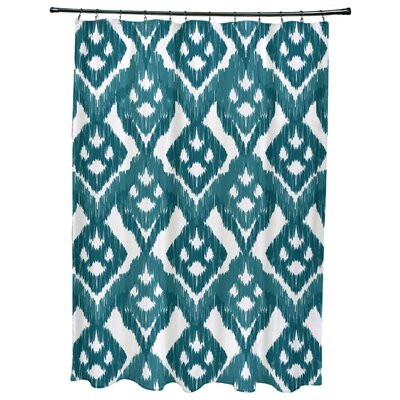 Oliver Hipster Geometric Print Shower Curtain Color: Teal
