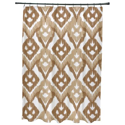 Meetinghouse Hipster Geometric Print Shower Curtain Color: Taupe