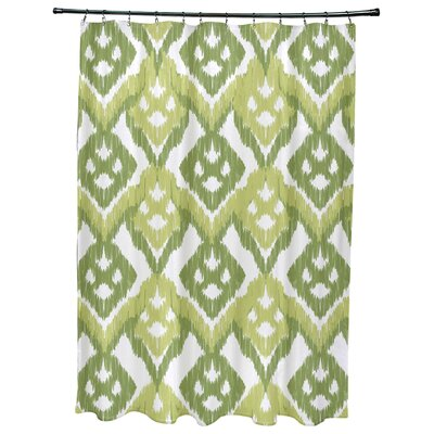 Oliver Hipster Geometric Print Shower Curtain Color: Green