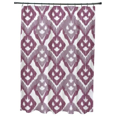Oliver Hipster Geometric Print Shower Curtain Color: Lavender
