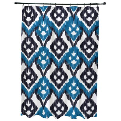 Oliver Hipster Geometric Print Shower Curtain Color: Dark Blue