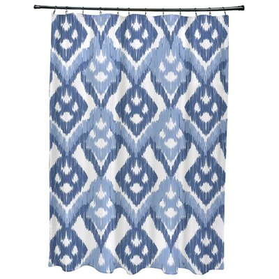 Oliver Hipster Geometric Print Shower Curtain Color: Light Blue