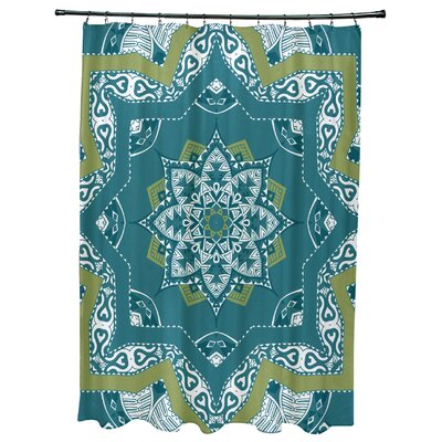 Meetinghouse Shawl Geometric Print Shower Curtain Color: Teal