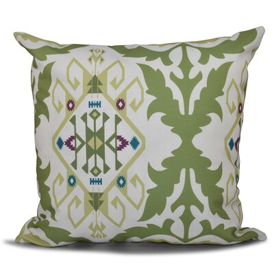 Oliver Bombay Medallion Geometric Print Throw Pillow Size: 18 H x 18 W, Color: Green