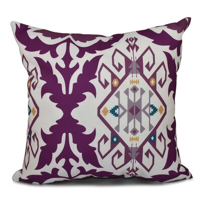 Oliver Bombay Medallion Geometric Print Throw Pillow Size: 26 H x 26 W, Color: Purple