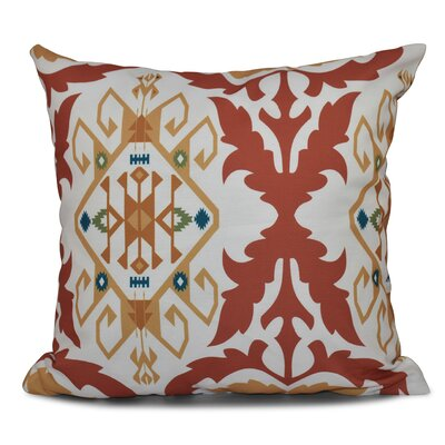 Oliver Bombay Medallion Geometric Print Throw Pillow Size: 16 H x 16 W, Color: Coral