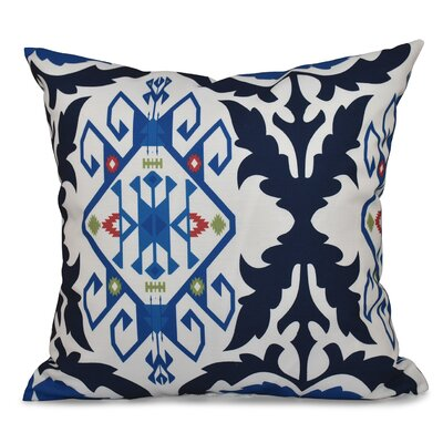 Oliver Bombay Medallion Geometric Print Throw Pillow Size: 16 H x 16 W, Color: Navy Blue