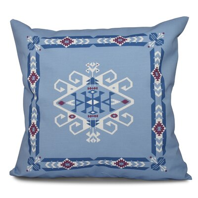 Oliver Jodhpur Border 3 Geometric Print Throw Pillow Color: Blue, Size: 26 H x 26 W