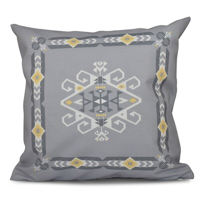 Oliver Jodhpur Border 3 Geometric Print Throw Pillow Size: 16 H x 16 W, Color: Gray
