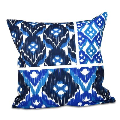 Oliver Free Spirit Geometric Print Throw Pillow Size: 26 H x 26 W, Color: Navy Blue