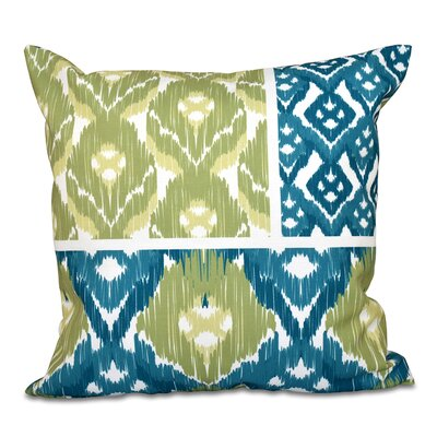 Oliver Free Spirit Geometric Print Throw Pillow Color: Teal, Size: 26 H x 26 W