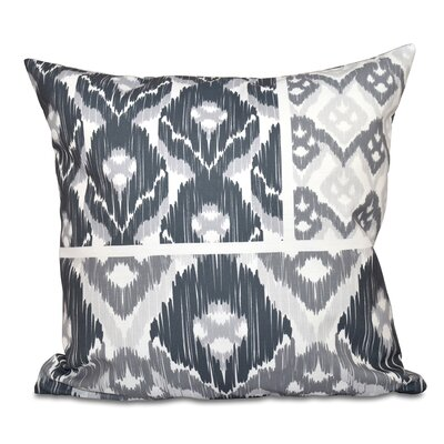 Oliver Free Spirit Geometric Print Throw Pillow Size: 18 H x 18 W, Color: Gray