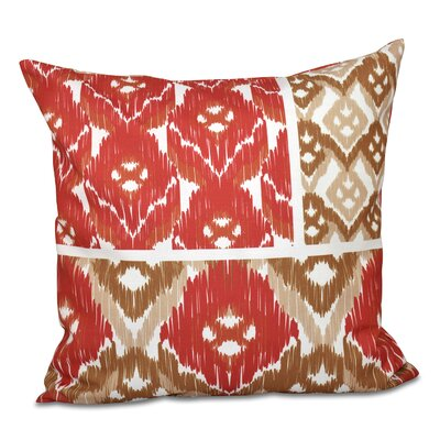 Oliver Free Spirit Geometric Print Throw Pillow Size: 18 H x 18 W, Color: Coral