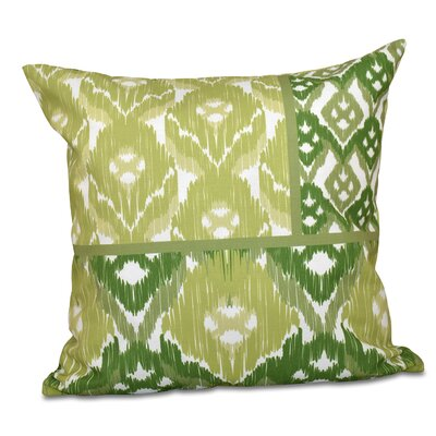 Meetinghouse Free Spirit Geometric Print Throw Pillow Size: 26 H x 26 W, Color: Green