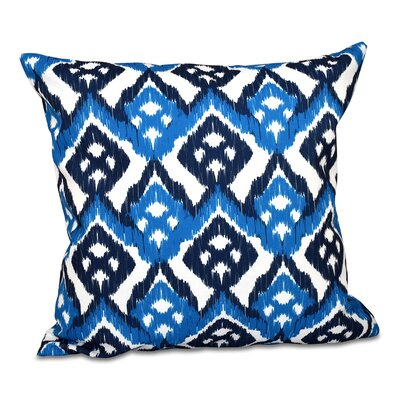 Oliver Hipster Geometric Print Throw Pillow Color: Dark Blue, Size: 18 H x 18 W