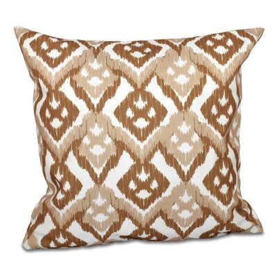 Oliver Hipster Geometric Print Throw Pillow Size: 18 H x 18 W, Color: Taupe