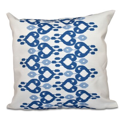 Sabrina Geometric Print Throw Pillow Size: 16 H x 16 W, Color: Light Blue