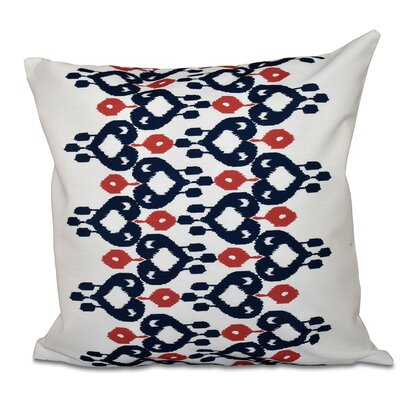 Sabrina Geometric Print Throw Pillow Color: Navy Blue, Size: 18 H x 18 W