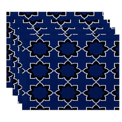 Oliver Bohemian Geometric Print Placemat Color: Blue