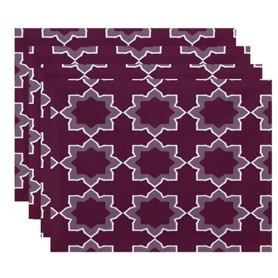 Oliver Bohemian Geometric Print Placemat Color: Purple