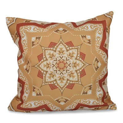 Oliver Shawl Geometric Print Throw Pillow Color: Gold, Size: 20