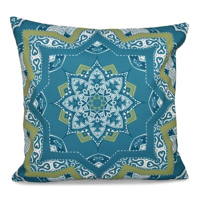 Oliver Shawl Geometric Print Throw Pillow Size: 18 H x 18 W, Color: Teal