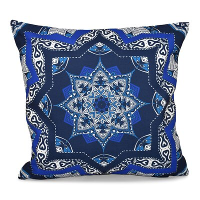 Oliver Shawl Geometric Print Throw Pillow Size: 18 H x 18 W, Color: Navy Blue