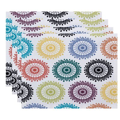 Oliver Groovy Geometric Print Placemat Color: Light Teal