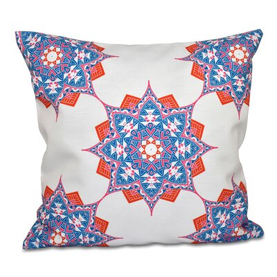 Oliver Rhapsody Geometric Print Throw Pillow Color: Light Blue, Size: 18 H x 18 W