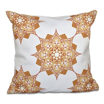 Oliver Rhapsody Geometric Print Throw Pillow Size: 18 H x 18 W, Color: Gold