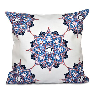 Oliver Rhapsody Geometric Print Throw Pillow Size: 26 H x 26 W, Color: Dark Blue