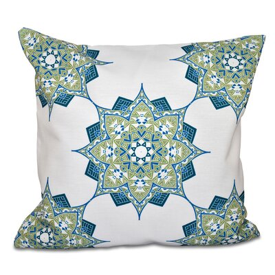 Oliver Rhapsody Geometric Print Throw Pillow Size: 26 H x 26 W, Color: Green