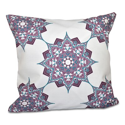 Oliver Rhapsody Geometric Print Throw Pillow Size: 18 H x 18 W, Color: Purple