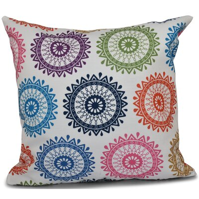 Oliver Groovy Geometric Print Throw Pillow Size: 18 H x 18 W, Color: Navy Blue