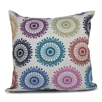 Oliver Groovy Geometric Print Throw Pillow Size: 26 H x 26 W, Color: Dark Teal