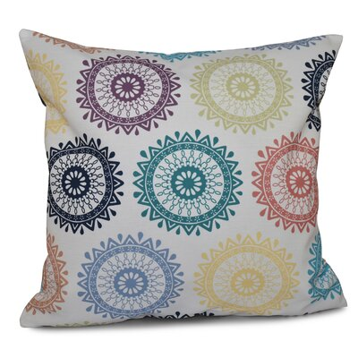 Oliver Groovy Geometric Print Throw Pillow Color: Light Teal, Size: 20 H x 20 W