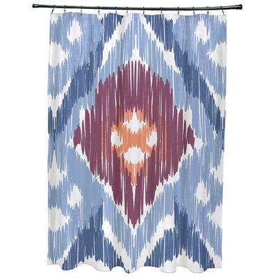 Oliver Original Geometric Print Shower Curtain Color: Light Blue