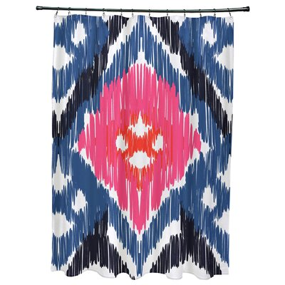 Meetinghouse Original Geometric Print Shower Curtain Color: Dark Blue