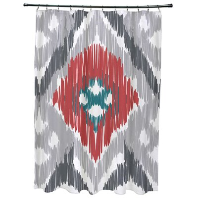 Oliver Original Geometric Print Shower Curtain Color: Gray