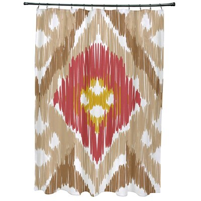 Oliver Original Geometric Print Shower Curtain Color: Taupe