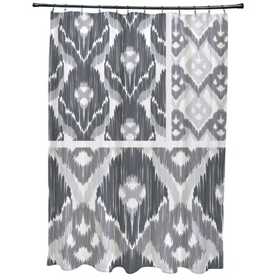 Meetinghouse Free Spirit Geometric Print Shower Curtain Color: Gray