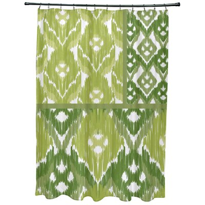 Oliver Free Spirit Geometric Print Shower Curtain Color: Green