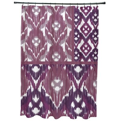 Oliver Free Spirit Geometric Print Shower Curtain Color: Purple