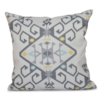 Oliver Jodhpur Medallion 2 Geometric Print Throw Pillow Size: 26 H x 26 W, Color: Gray
