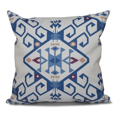 Oliver Jodhpur Medallion 2 Geometric Print Throw Pillow Color: Blue, Size: 26 H x 26 W