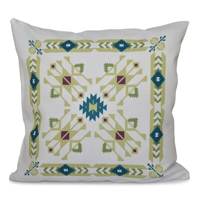 Oliver Jodhpur Border 4 Geometric Print Throw Pillow Size: 26 H x 26 W, Color: Green