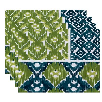 Oliver Free Spirit  Geometric Print Placemat Color: Teal