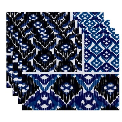 Oliver Free Spirit  Geometric Print Placemat Color: Navy Blue