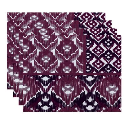 Oliver Free Spirit  Geometric Print Placemat Color: Purple
